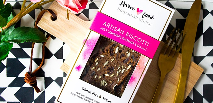 Marci Food's Artisan Biscotti is Organic, Gluten free, Vegan and made with only wholesome, natural ingredients. a fabulous gourmet addition to High Tea, picnic baskets, cheeses, dips and desserts. Or simply revel in your favourite flavour with a cup of good tea or coffee. Wholesale supplier.
